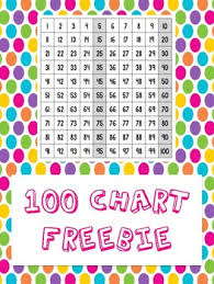 100 Chart Poster Free 100 Chart Poster By Andrea Aldridge Colorful Kinders Tpt