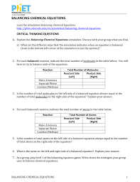 balancing equations worksheet answers polskidzien