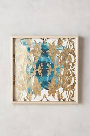 teal and gold leaves wall art on blue brown wall art with teal and gold leaves wall art art pinterest leaf wall art