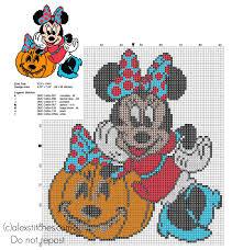 Halloween Minnie Free Cross Stitch Pattern Halloween Cross