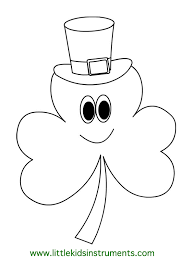 Small Picture Shamrock Coloring Page Shamrock Coloring Page Shamrock Coloring