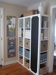 Charming Ikea Expedit Bookcase In White With Files And Boxes