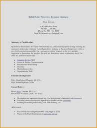 Resume Examples For Retail Sales Associate Cv Example For Work New Stock 24 Elegant Samples Examples Of