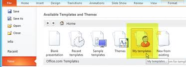 Powerpoint 2013 Template Location Create And Save A Powerpoint Template Powerpoint