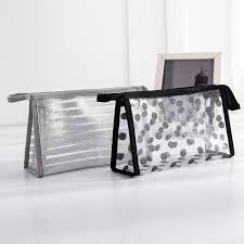 China Striped <b>Waterproof PVC Cosmetic</b> Makeup Bag Transparent ...