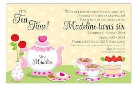 Kids Tea Party Invitation Wording Kids Tea Party Invitation Wording Tea Party Invites Wording