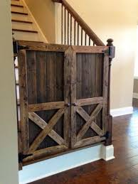 Gate For Stairs Rustic Wooden Baby Gates Stairs Ideas Home Inspiring