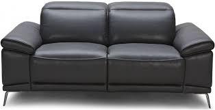 giovani black leather power reclining loveseat main image