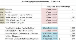 Irs Payment Chart 2018 Retired Houshold Tax Planning For 2018 Seeking Alpha