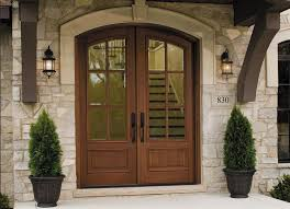doors double entry doors fiberglass double front doors white stone exterior wall wooden french