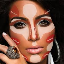 after that put the bronzer on the low points of your face ilrated in the above picture with the darker contour areas these areas are the hollows of
