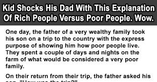rich versus poor essay