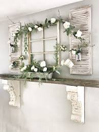 wall shutter decor window and shutter spring decor with fresh greenery and blooms is a refreshing wall shutter decor