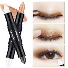 new hot double end shimmer eyeshadow pencils for women eyes face brighten white glitter highlighters eye shadow make up blue eyeshadow eyeshadow for green