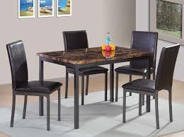 images grey furniture. Beautiful Furniture Faux Marble And Gun Metal Grey 5PC Dining Group By Furniture World Intended Images