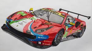 Real racing 3 ferrari 488 gte evo (af corse) championship limited time series overview. Ferrari 488 Gte Evo Car Drawings Cool Car Drawings Ferrari