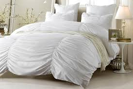 3pc ruched design white bedding set includes comforter and duvet cover style 1005 c twin twin xl cherry hill collection com