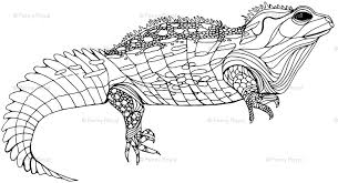 Small Picture Tuatara Monochrome wallpaper smuk Spoonflower