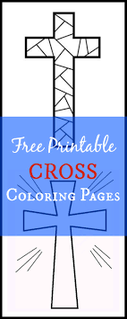 These coloring pages often feature simple cross pictures the first of the printable collection depicts a cross with intricate detailing. Free Printable Cross Coloring Pages What Mommy Does