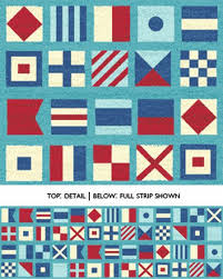 55 best Quilting - Lake Patterns and Fabrics images on Pinterest ... & One Yard Ships Ahoy - Nautical Flags in Azure Blue - Nautical Cotton Quilt  Fabric - Adamdwight.com