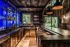 basement bar stone. rustic basement bar home with wet stone wall pendant lights v