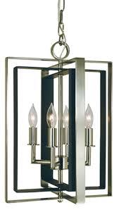 4 light antique brass matte black symmetry mini chandelier