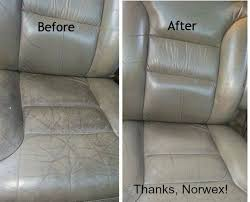 leather seats enviro cloth with a smudge of cleaning paste then