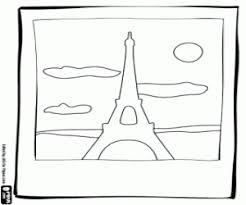 Kleurplaat De Foto Van De Eiffeltoren Kleurplaten