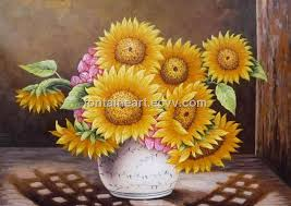 hot sunflower oil painting hand made painting on canvas low