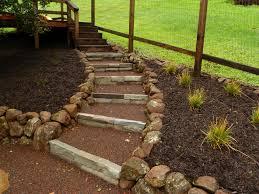 railroad ties landscaping steps