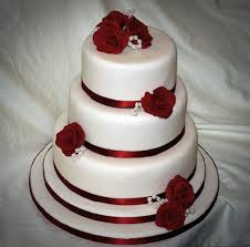 simple wedding cake. cheap and simple wedding cake ideas : rose