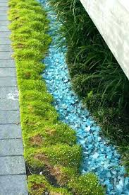 tumbled glass mulch tumbled glass landscape garden with moss and glass mulch tumbled glass landscape rocks