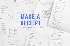 A Receipt Expressexpense Custom Receipt Maker Invoice Template