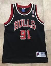 Details About Vintage Dennis Rodman Chicago Bulls Authentic Champion Nba Jersey Size Youth M