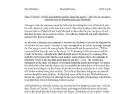 essay questions macbeth possible essay questions macbeth