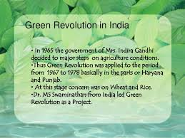 ppt green revolution traditional ways of farming