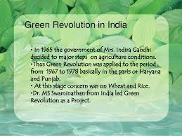 ppt green revolution traditional ways of farming
