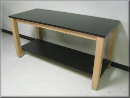 laboratory table wood frame with laminated tops