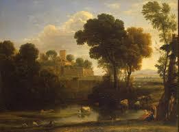 italian landscape gellee claude le lorrain oil painting