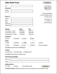 pie order form template cake templates pinterest
