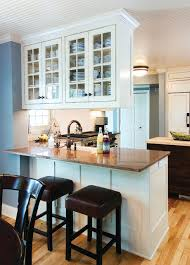 Kitchen peninsula with bar seating traditional-kitchen