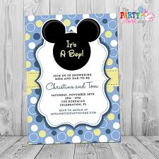 Free Printable Baby Mickey Mouse Invitations Mickey Mouse Baby Shower Invitation Printable Baby Mickey Boy