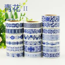 Blue And White China Pattern Beauteous 48 Designs NEW Blue White China Porcelain Pattern Japanese Washi