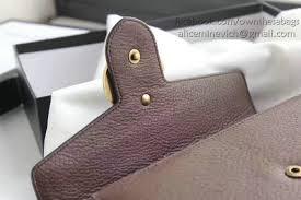 gucci gg marmont leather mini chain bag brown 401232