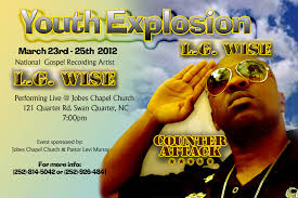 nc church news bringing you the latest in the nc church community flyer design by 5th gear photography houston vines l g wise live in concert 25 2012 whats your next event tell us about it