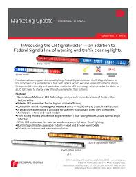 Federal Signal Solaris Light Bar Introducing The Cn Signalmaster An Addition To Federal