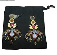 fashion brand jcrew jcrew colorful crystal chandelier earrings multi color multi