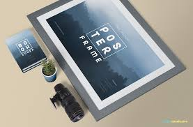 poster psd framed poster mockup free psd zippypixels