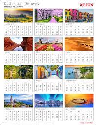 2020 Year At A Glance Calendar Template Printable Calendar Designs From Xerox