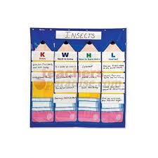 4 Column Pocket Chart Pocket Chart Kwhl 4 Column